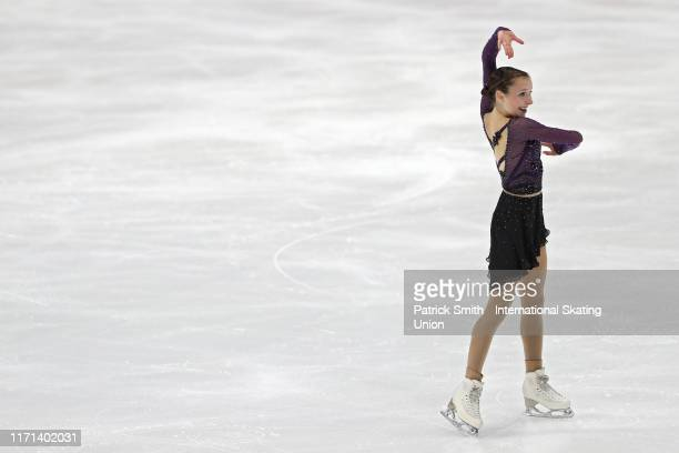 Emilia Murdock of the United States performs in the Junior Ladies Free Skate during Day 3 of the ISU Junior Grand Prix of Figure Skating at Herb...
