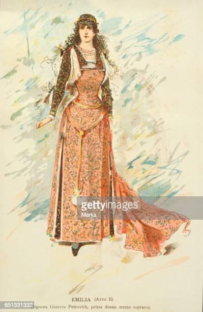 Emilia Othello Opera Alfredo Edel Costumes