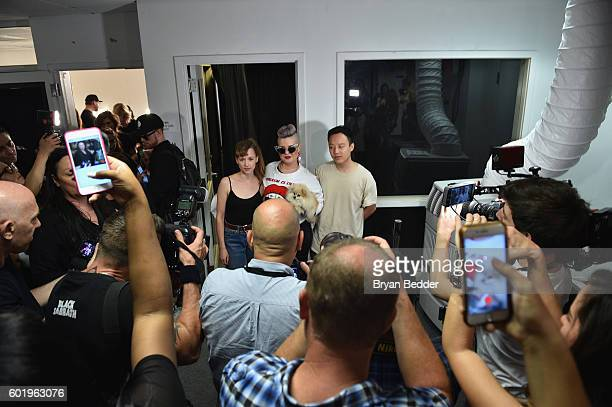 Emilia Pfohll Kelly Osbourne and Nan Li walks the runway at Namilia fashion show during New York Fashion Week The Shows September 2016 at The Gallery...
