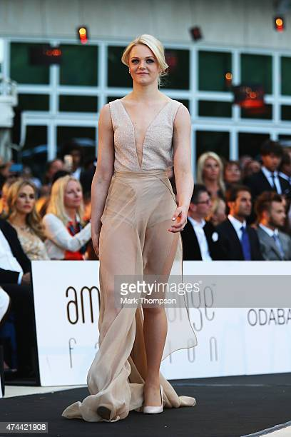 Emilia Pikkarainen attends the Amber Fashion charity event at the Meridien Beach Plaza during previews to the Monaco Formula One Grand Prix on May 22...