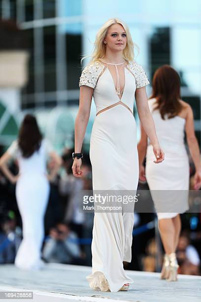 Emilia Pikkarainen the girlfriend of Valtteri Bottas of Finland and Williams attends the Amber Lounge Charity Fashion event at Le Meridien Beach...