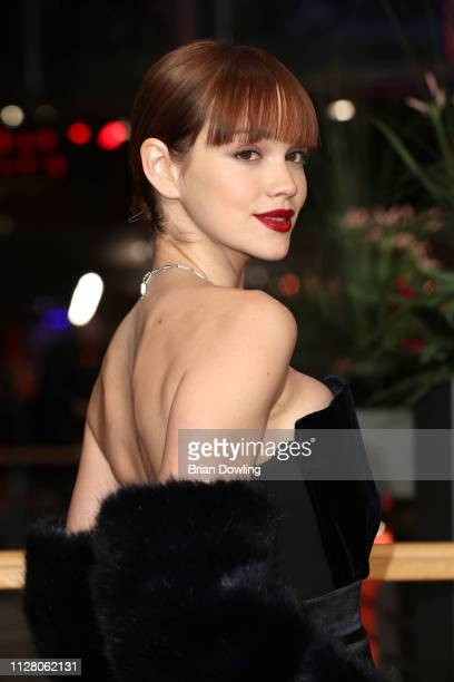 Emilia Schüle attends the The Kindness Of Strangers premiere during the 69th Berlinale International Film Festival Berlin at Berlinale Palace on...
