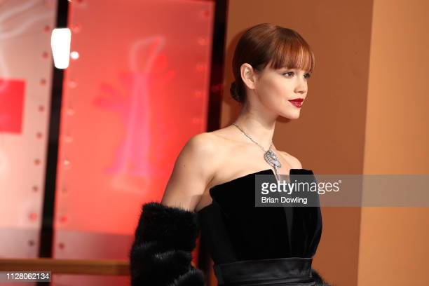 Emilia Schüle attends the 'The Kindness Of Strangers' premiere during the 69th Berlinale International Film Festival Berlin at Berlinale Palace on...