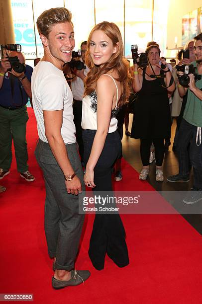 Emilia Schuele and Jannik Schuemann during the premiere for the film 'LenaLove' at Mathaeser Filmpalast on September 12 2016 in Munich Germany