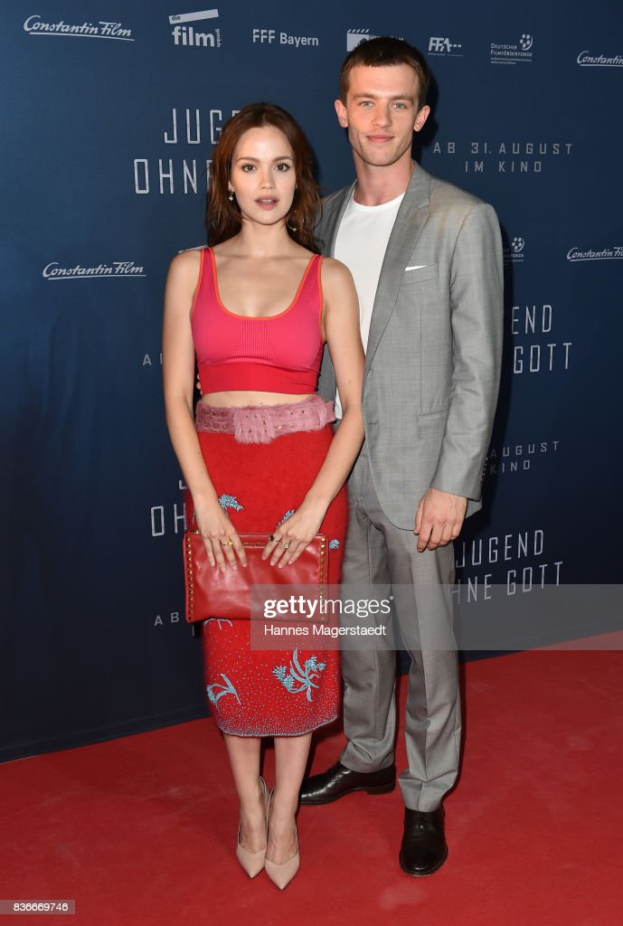 Emilia Schuele and Jannis Niewoehner during the 'Jugend ohne Gott' premiere at Mathaeser Filmpalast on August 21, 2017 in Munich, Germany.