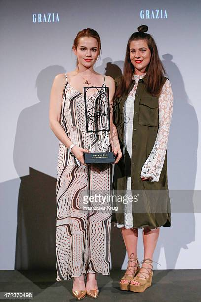 Emilia Schuele and Jessica Weiss attend the GRAZIA Best Inspiration Award 2015 on May 06, 2015 in Berlin, Germany.
