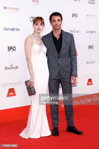 Emilia Schuele and Nikolai Kinski during the 46th German Film Ball at Hotel Bayerischer Hof on January 26 2019 in Munich Germany
