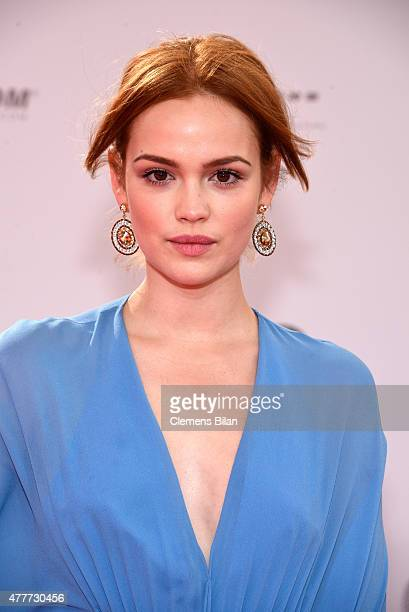 Emilia Schuele arrives for the German Film Award 2015 Lola at Messe Berlin on June 19 2015 in Berlin Germany