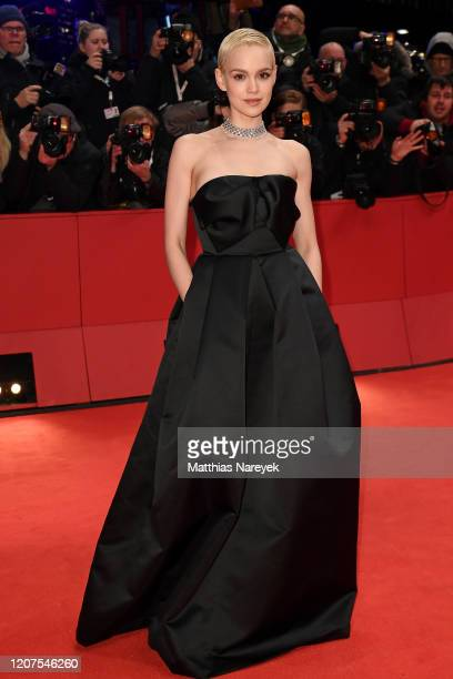 """Emilia Schuele arrives for the opening ceremony and """"My Salinger Year"""" premiere during the 70th Berlinale International Film Festival Berlin at..."""