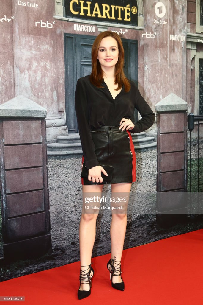 Emilia Schuele attends the 'Charite' Berlin Premiere at Langenbeck-Virchow-Haus on March 13, 2017 in Berlin, Germany.