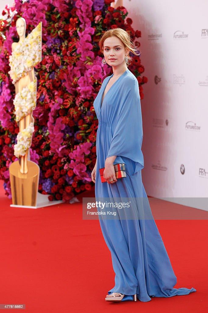 Emilia Schuele attends the German Film Award 2015 Lola (Deutscher Filmpreis) at Messe Berlin on June 19, 2015 in Berlin, Germany.