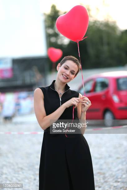 """Emilia Schuele attends the premiere of the movie """"Hello Again - Ein Tag fuer immer"""" as part of the Filmfest Muenchen Pop-Up Festival at Autokino..."""