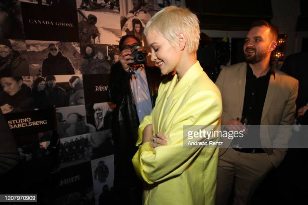 Emilia Schuele attends the Studio Babelsberg Night X Canada Goose on the occasion of the 70th Berlinale at Soho House on February 21, 2020 in Berlin,...