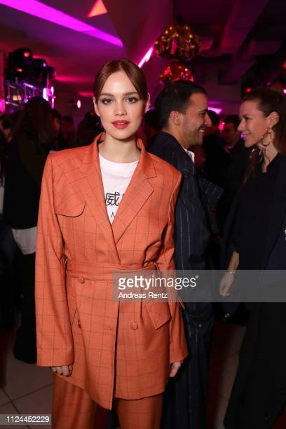 Emilia Schuele attends the William Fan Defile during 'Der Berliner Salon' Autumn/Winter 2019 at Knutschfleck on January 15 2019 in Berlin Germany