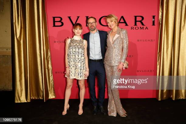 Emilia Schuele Bart de Boever and Lilly zu Sayn Wittgenstein during the Bulgari party with the motto #Starsinbulgari on February 7 2019 in Berlin...