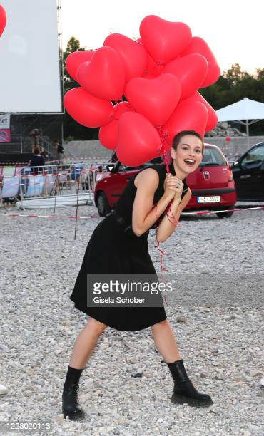 """Emilia Schuele during the premiere of the movie """"Hello Again - Ein Tag fuer immer"""" as part of the Filmfest Muenchen Pop-Up Festival at Autokino..."""