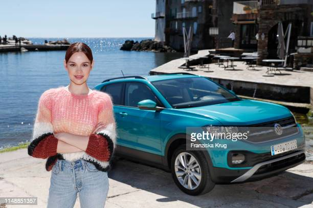Emilia Schuele during the Volkswagen T-Cross Driving Experience on April 30, 2019 in Bastia on the island of Corsica, France.
