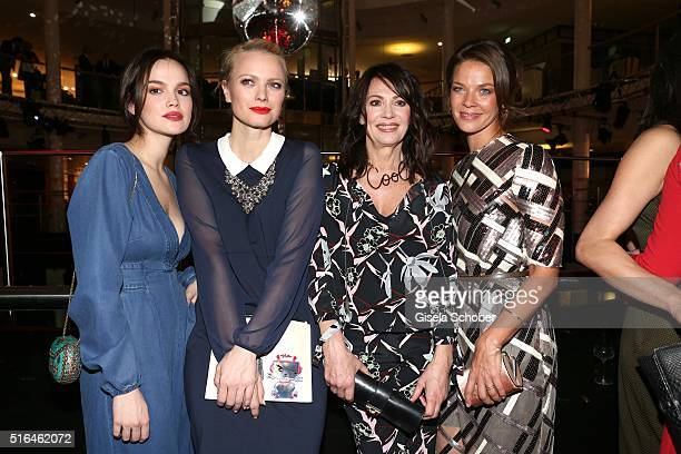 Emilia Schuele Franziska Knuppe Iris Berben and Jessica Schwarz during the 'Vogue loves Breuninger' fashion event on March 18 2016 in Stuttgart...