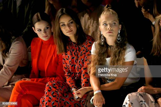 Emilia Schuele Janina Uhse and Victoria Swarowski attend the Marc Cain Fashion Show Spring/Summer 2018 at ewerk on July 4 2017 in Berlin Germany