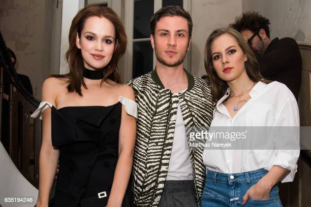 Emilia Schuele Jannik Schuemann and Alicia von Rittberg attend the Pantaflix Party during the 67th Berlinale International Film Festival Berlin at...