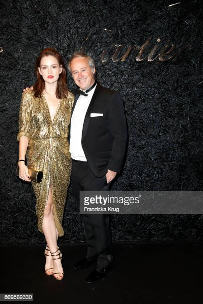 Emilia Schuele wearing a Juste un Clou Bracelet and Juste un Clou Ring and the Michael Kors Collection and Managing Director Cartier Northern Europe...