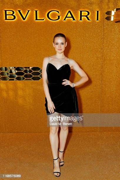 Emilia Schule attends the Bvlgari Serpenti Seduttori launch at the Roundhouse on September 15 2019 in London England