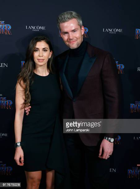 Emilia Serhant and Ryan Serhant attend Marvel Studios Presents Black Panther Welcome To Wakanda during February 2018 New York Fashion Week The Shows...