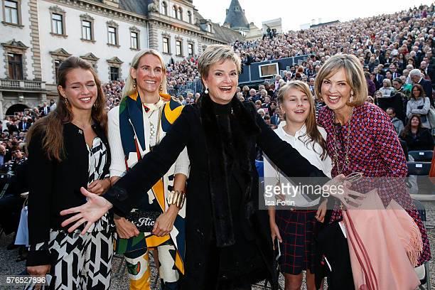 Emilia von AuerspergBreunner with her mother Elisabeth von AuerspergBreunner Gloria von Thurn und Taxis Carlotta Hipp and her mother Maya von...