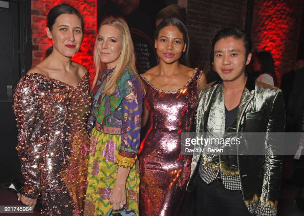 Emilia Wickstead Alice NaylorLeyland Emma Weymouth and Jonathan Cheung attends the Naked Heart Foundation's Fabulous Fund Fair at The Roundhouse on...