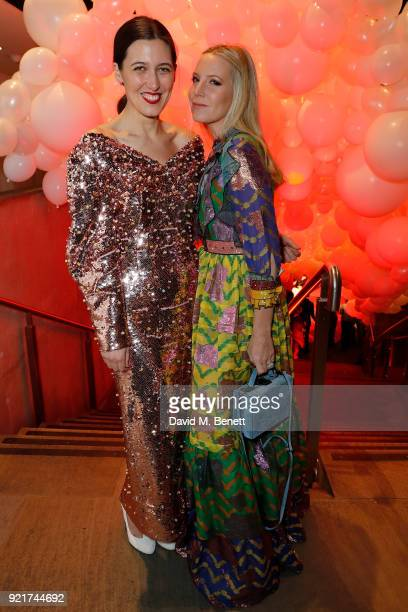 Emilia Wickstead and Alice Naylor Leyland attend the Naked Heart Foundation's Fabulous Fund Fair in London at The Roundhouse on February 20 2018 in...