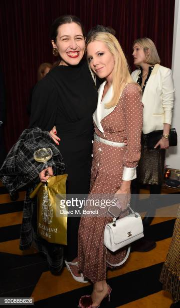 Emilia Wickstead and Alice NaylorLeyland attend a cocktail party in honour of Alison Loehnis' 10 year anniversary at NETAPORTER on February 19 2018...