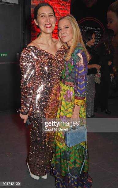 Emilia Wickstead and Alice NaylorLeyland attend the Naked Heart Foundation's Fabulous Fund Fair at The Roundhouse on February 20 2018 in London...