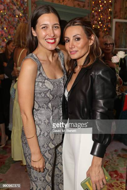 Emilia Wickstead and Narmina Marandi attend the Mrs Alice x Misela launch event at Annabel's on July 3 2018 in London England