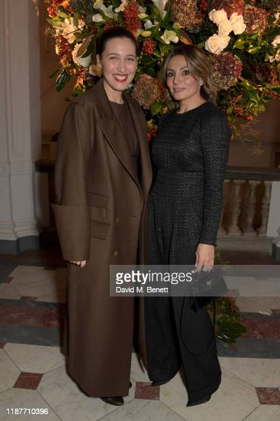 Emilia Wickstead and Narmina Marandi attend the UK Premiere of 'Very Ralph' at Royal Academy of Arts on November 14 2019 in London England