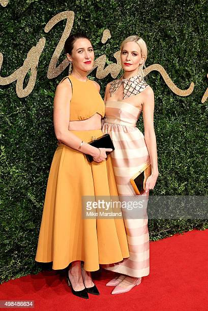 Emilia Wickstead and Poppy Delevingne attend the British Fashion Awards 2015 at London Coliseum on November 23, 2015 in London, England.