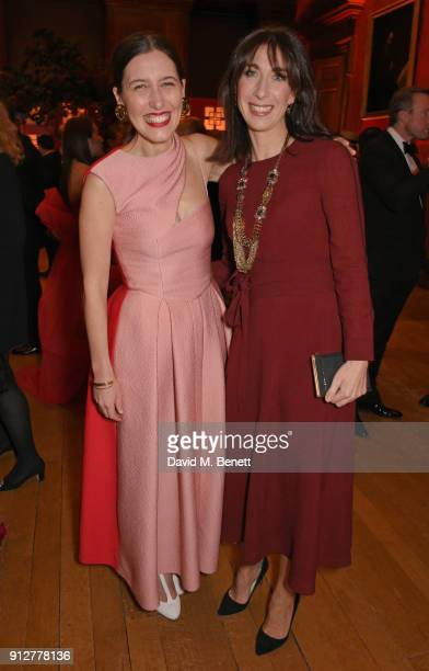Emilia Wickstead and Samantha Cameron attend Wendy Yu's Chinese New Year Celebration at Kensington Palace on January 31 2018 in London United Kingdom