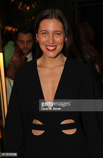 Emilia Wickstead attends a private dinner hosted by Hikari Yokoyama to celebrate the Harper's Bazaar charity auction with Paddle8 in aid of Women For...