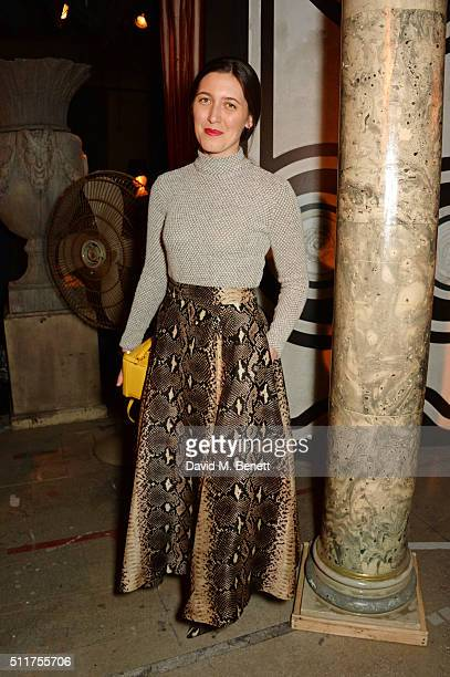 Emilia Wickstead attends the Erdem x Selfridges LFW Afterpary at the Old Selfridges Hotel on February 22 2016 in London England