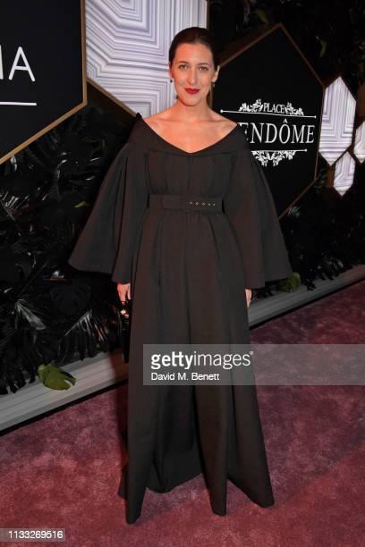 Emilia Wickstead attends the Fashion Trust Arabia Prize awards ceremony on March 28 2019 in Doha Qatar