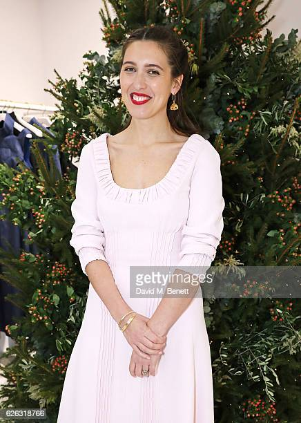 Emilia Wickstead attends the her Christmas Cocktail party at the Emilia Wickstead London Flagship store on November 28 2016 in London England