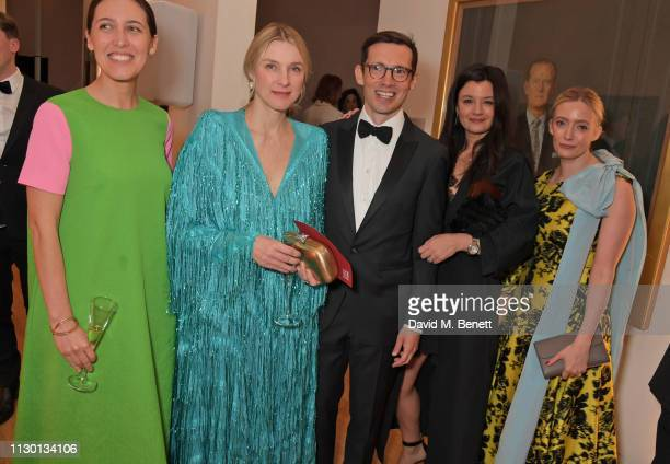 Emilia Wickstead guest Erdem Moralioglu Claire Le Marquand and Emma ElwickBates attend The Portrait Gala 2019 hosted by Dr Nicholas Cullinan and...