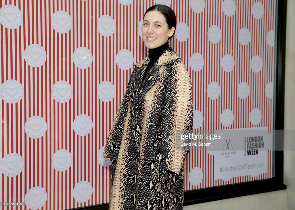Emilia Wickstead is unveiled as The May Fair Hotel's Designer In Residence to celebrate the tenth anniversary of the hotel being The Official Hotel of London Fashion Week at at The May Fair Hotel on February 13, 2018 in London, England.
