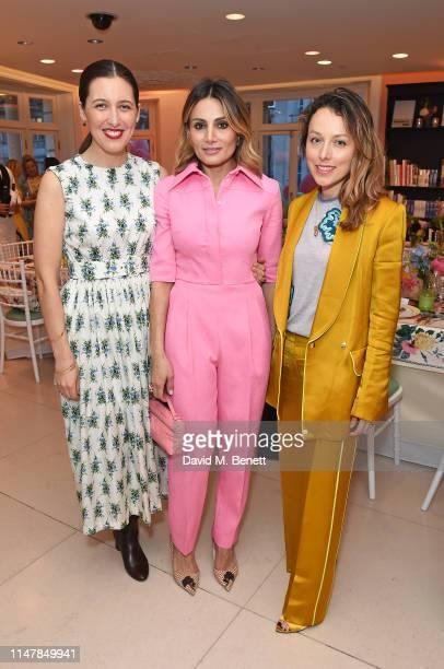 Emilia Wickstead Narmina Marandi and Daniella Pickup attend a dinner hosted by Alice NaylorLeyland and Fenwick to celebrate their summer season...
