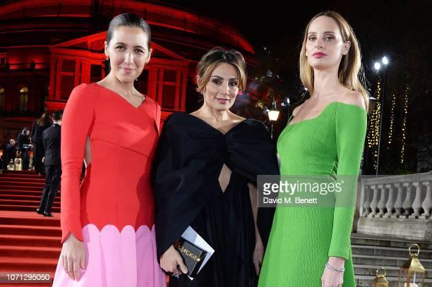 Emilia Wickstead Narmina Marandi and Lauren Santo Domingo arrive at The Fashion Awards 2018 in partnership with Swarovski at the Royal Albert Hall on...