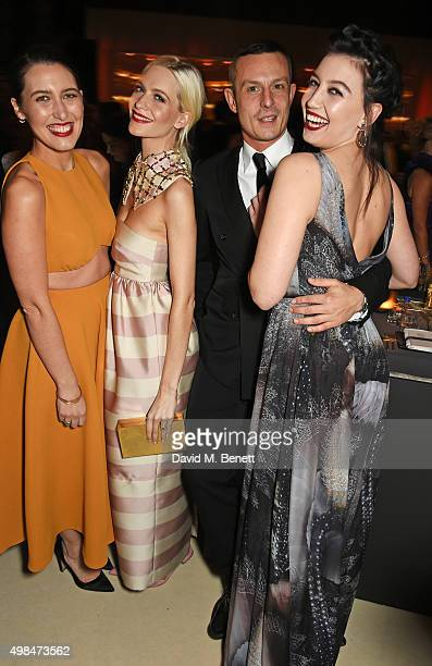 Emilia Wickstead, Poppy Delevingne, Jonathan Saunders and Daisy Lowe attend a drinks reception at the British Fashion Awards in partnership with...