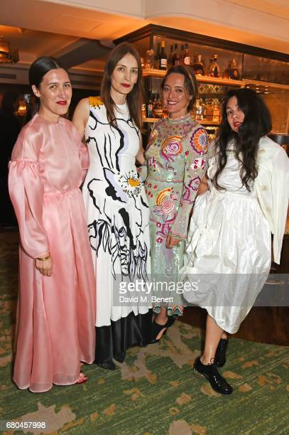 Emilia Wickstead Roksanda Ilincic Alice Temperley and Simone Rocha attend a combined celebratory VIP dinner marking The Ivy's centenary year and 150...