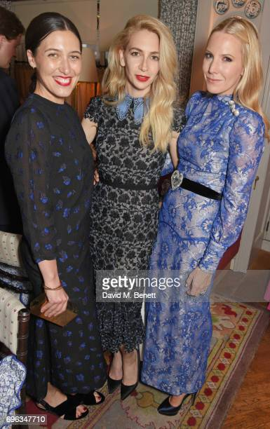 Emilia Wickstead Sabine Getty and Alice NaylorLeyland attend an intimate dinner hosted by Alice NaylorLeyland for friends to celebrate her Garden...