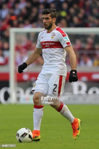 Emiliano Adrian Insua Zapata of Stuttgart controls the ball during the Second Bundesliga match between VfB Stuttgart and 1 FC Kaiserslautern at...