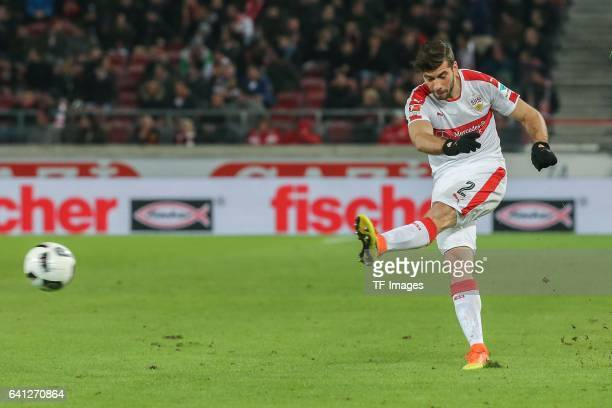 Emiliano Adrian Insua Zapata of Stuttgart in action during the Second Bundesliga match between VfB Stuttgart and Fortuna Duesseldorf at MercedesBenz...