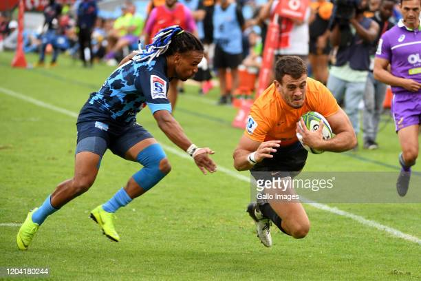 Emiliano Boffelli of the Jaguares during the Super Rugby match between Vodacom Bulls and Jaguares at Loftus Versfeld on February 29 2020 in Pretoria...